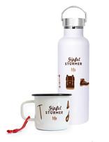 SET Becher & Flasche Gipfelstürmer