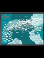 Die Alpen Karte