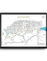 PRINT ALLGÄU MAP