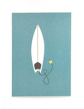 POSTKARTE SURFBOARD