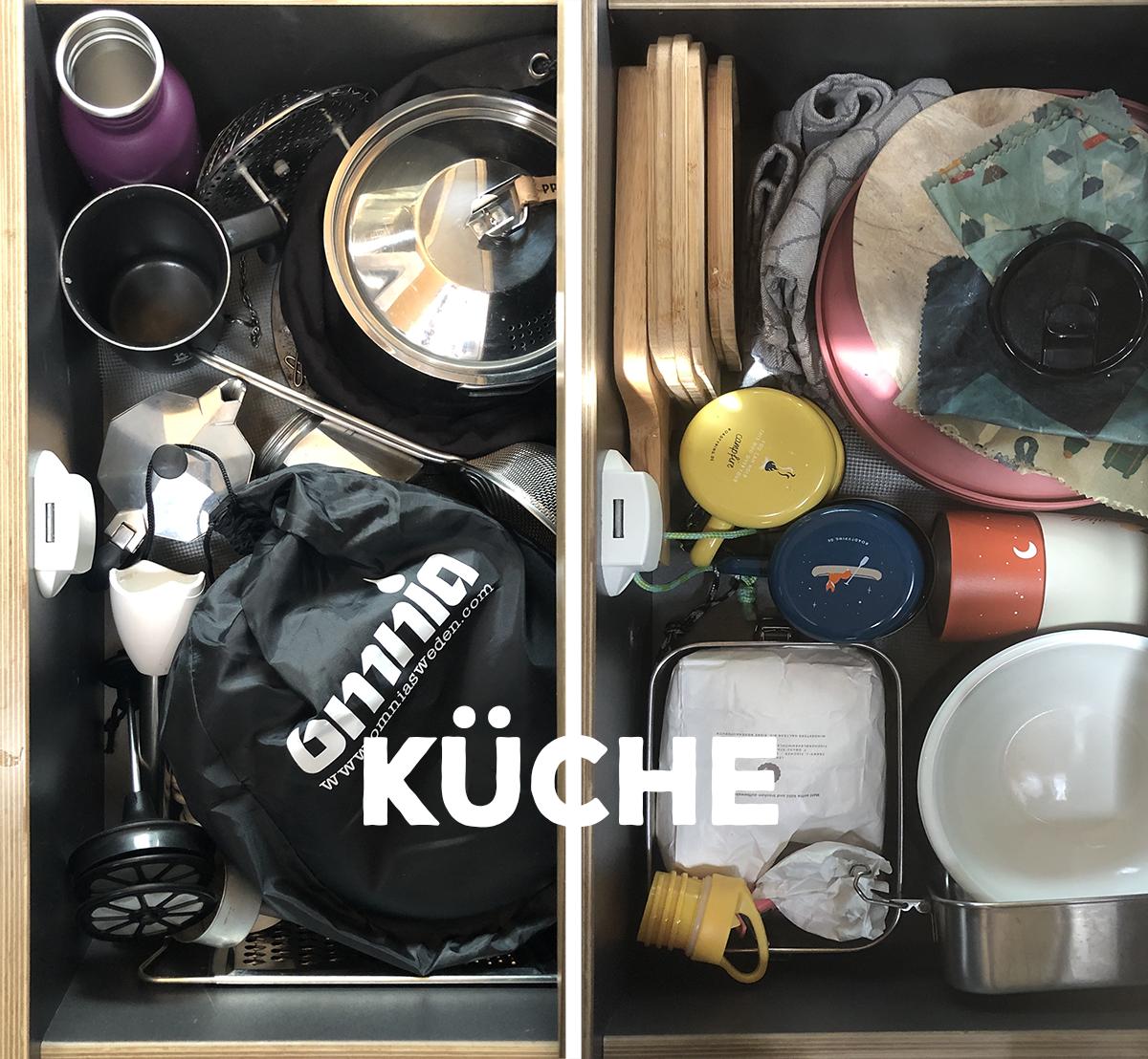 Vanlife Packliste Küche Roadtyping