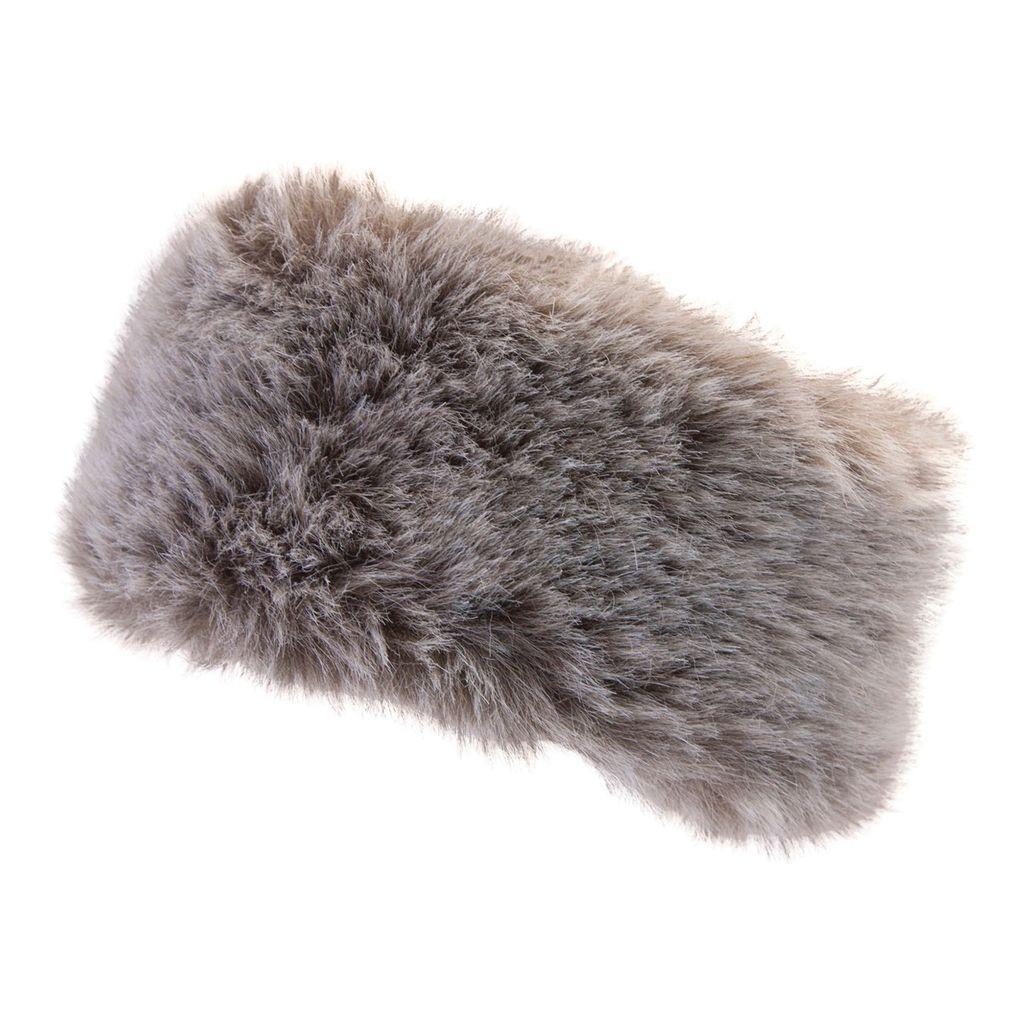 Manbi Manbi Alicia Fur Headband Timber Wolf