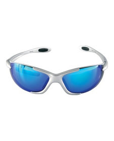 Aspex Meteor Glass Silver Frame inc Blue/Orange/Clear Lens