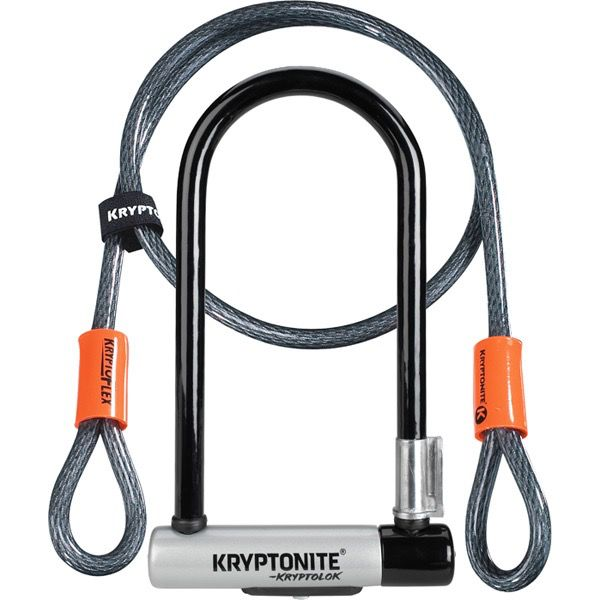 Madison Kryptonite Standard U-Lock With 4 Foot Cable Sold Secure Gold