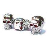 Cycle Division D20 Platsic Skull SV Valve Caps (Pair)