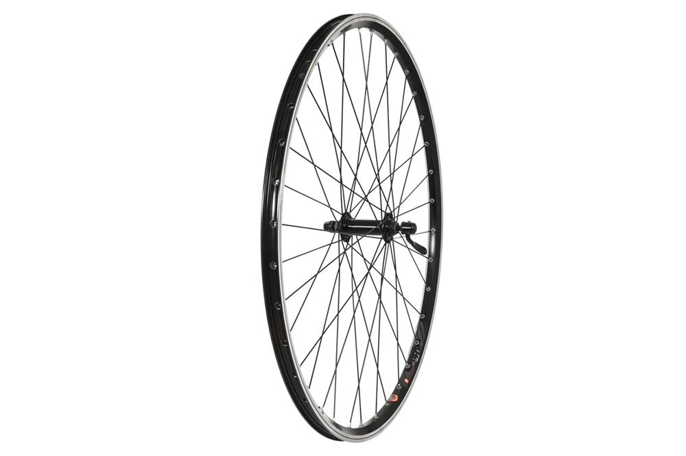 Raleigh 700c Front Wheel, Alloy Hub, Mach1 240 Rim, 36H, Black