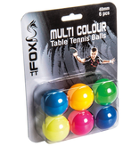 Fox Coloured TT Balls (pk 6)