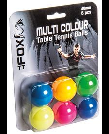 Fox Coloured TT Balls (pk 6)