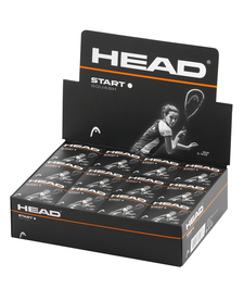 Head Start Squash Ball - Single White Dot