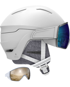SALOMON  MIRAGE White/Blue Solar Ladies HELMET