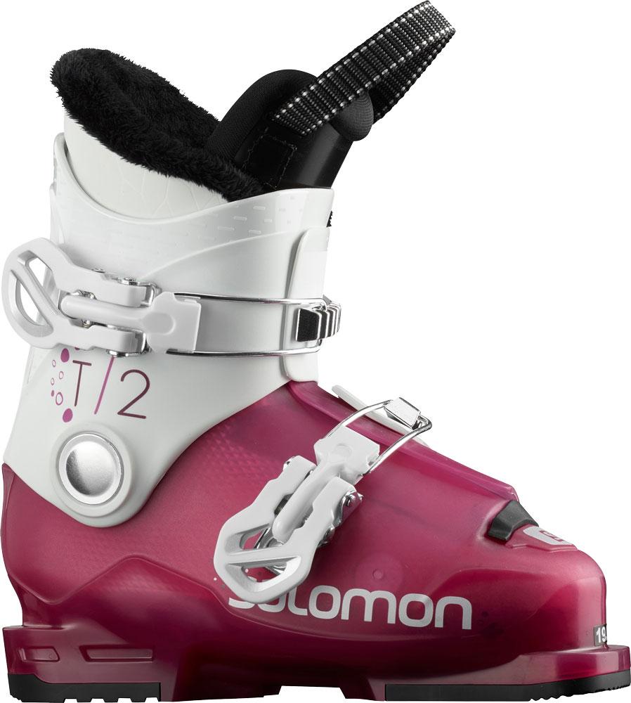 Salomon SALOMON T2 RT Girly Pink/Wh Jnr Ski Boot