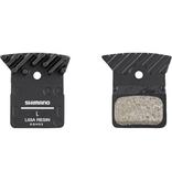 Madison L03A disc brake pads and spring, alloy backed with cooling fins, resin