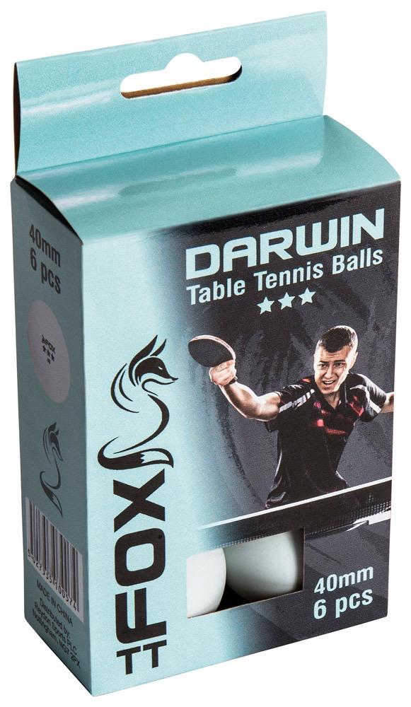 Fox Fox TT Darwin 3 Star Table Tennis Balls ( set of 6)