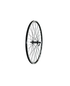 "26"" QR Double Wall MTB Black Front Wheel"