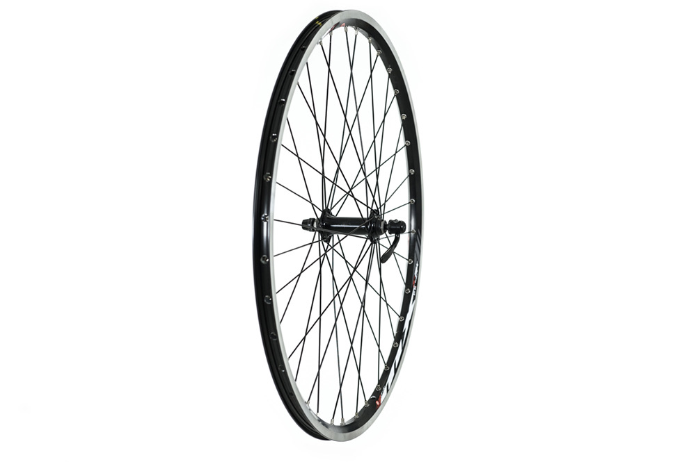 "Raleigh 26"" QR Double Wall MTB Black Front Wheel"