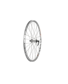 "26"" Front Wheel Double Wall MTB Silver QR"