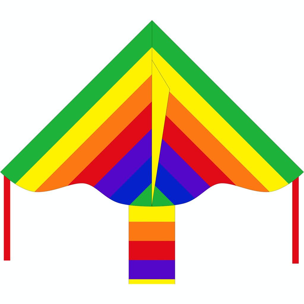 HQ Simple Flyer Rainbow Kite