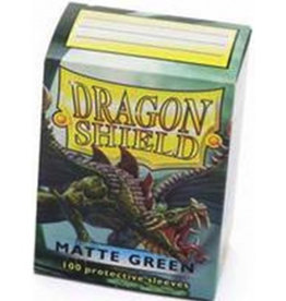 DS - Standard Sleeves Dragon Shield Standard Sleeves - Matte Green (100 Sleeves)
