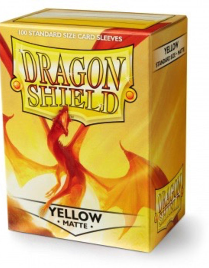 DS - Standard Sleeves Dragon Shield Standard Sleeves - Matte Yellow (100 Sleeves)