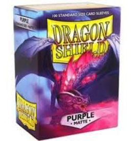 DS - Standard Sleeves Dragon Shield Standard Sleeves - Matte Purple (100 Sleeves)