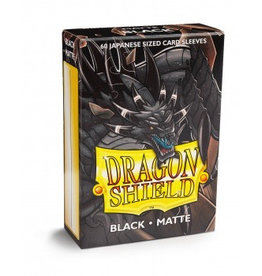 DS - Small Sleeves Dragon Shield Small Sleeves - Japanese Matte Black (60 Sleeves)