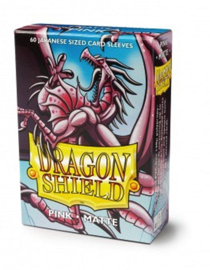 DS - Small Sleeves Dragon Shield Small Sleeves - Japanese Matte Pink (60 Sleeves)