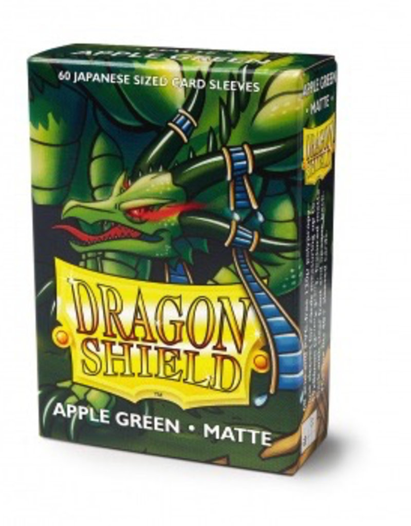 DS - Small Sleeves Dragon Shield Small Sleeves - Japanese Matte Apple Green (60 Sleeves)