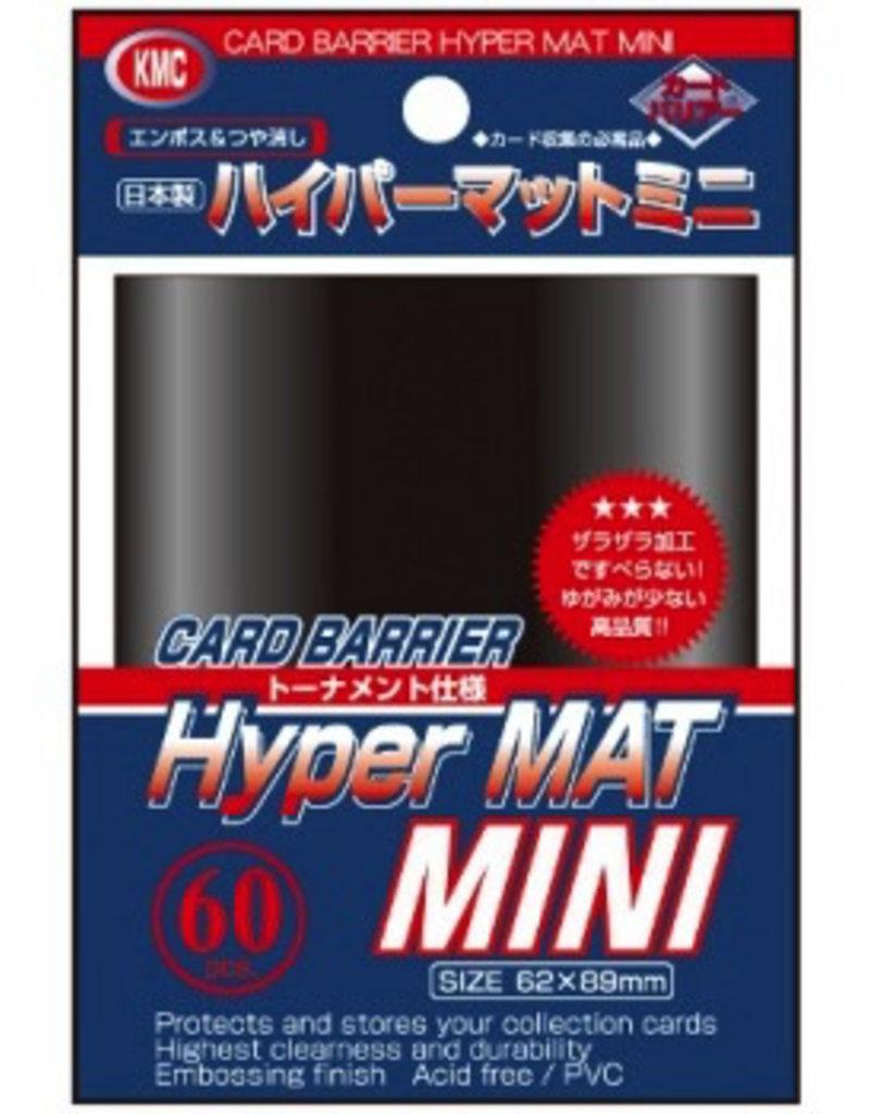 KMC - Small Sleeves KMC Small Sleeves - Hyper Mat Black (60 Sleeves)