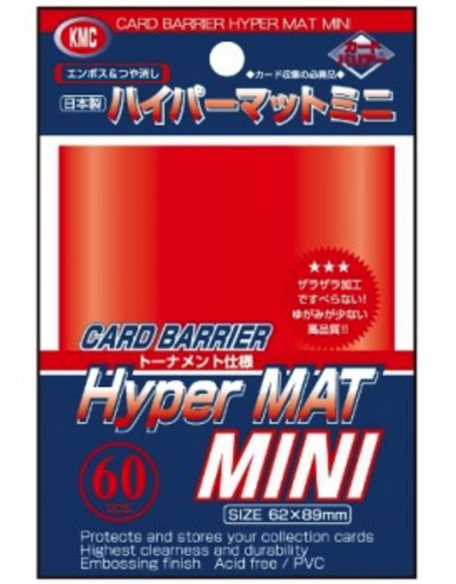 KMC - Small Sleeves KMC Small Sleeves - Hyper Mat Red (60 Sleeves)