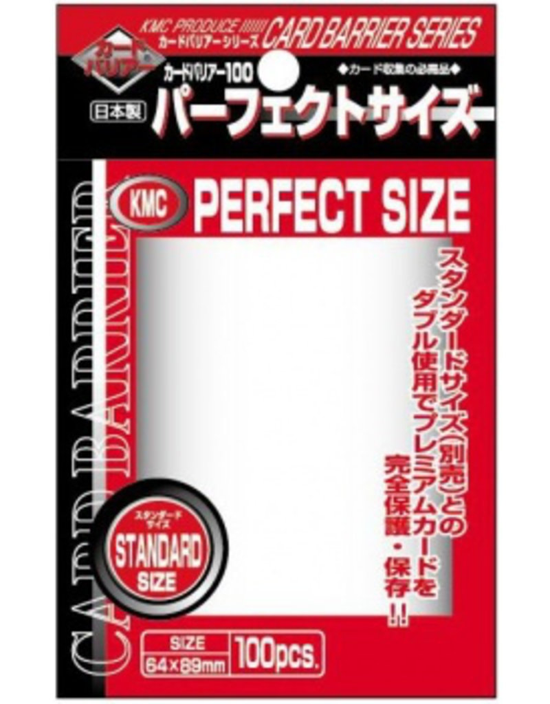 KMC - Standard Sleeves KMC Standard Sleeves - Perfect Size (100 Sleeves)