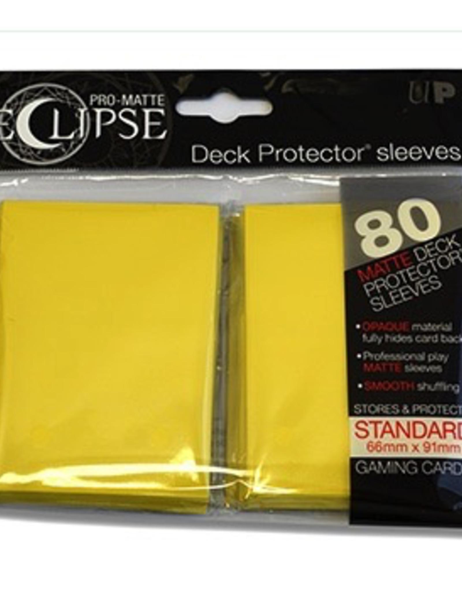 UP - Standard Sleeves UP - Standard Sleeves - Eclipse - Yellow (80 Sleeves)