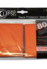 UP - Standard Sleeves UP - Standard Sleeves - PRO-Matte Eclipse - Orange (80 Sleeves)