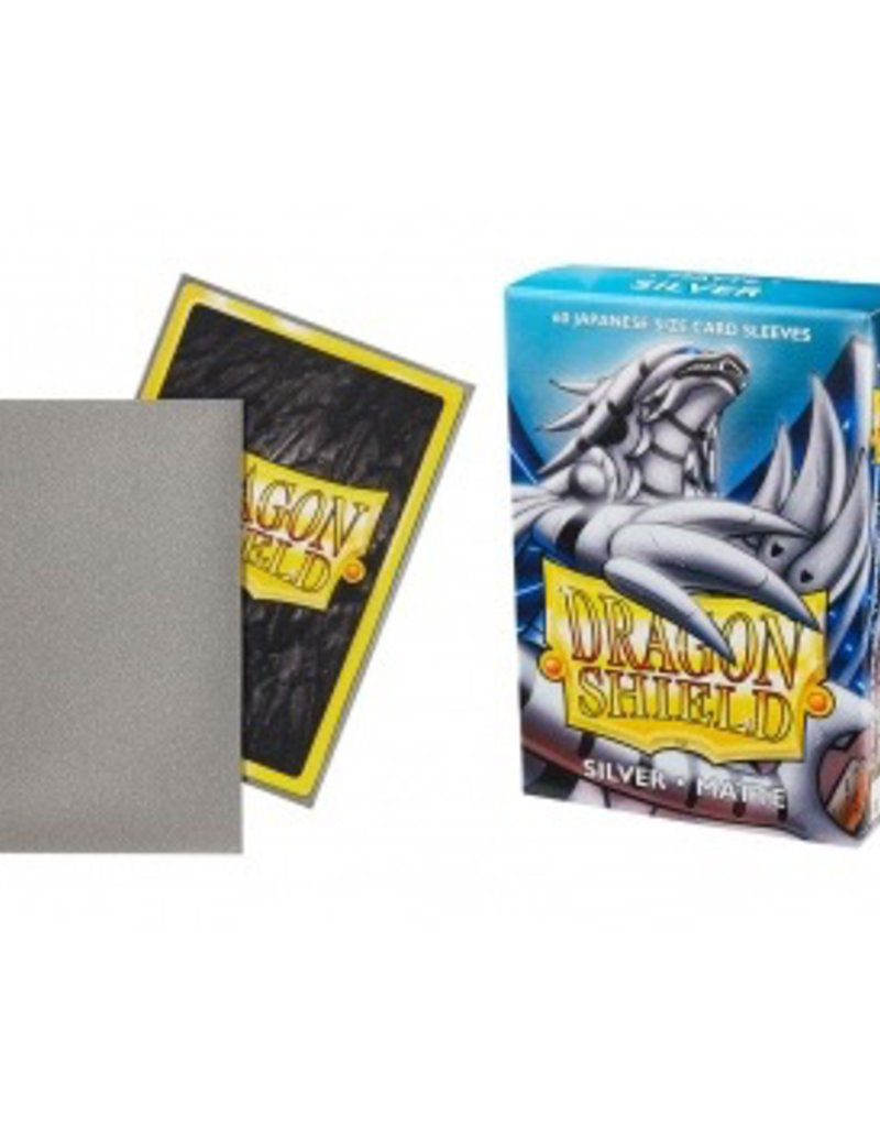DS - Small Sleeves Dragon Shield Small Sleeves - Japanese Matte Silver (60 Sleeves)