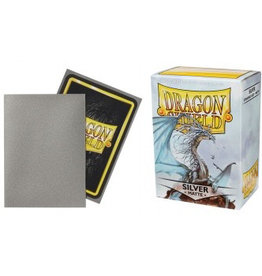 DS - Standard Sleeves Dragon Shield Standard Sleeves - Matte Silver (100 Sleeves)