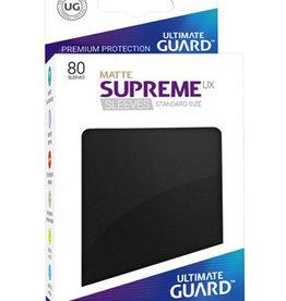 UG - Standard Sleeves Ultimate Guard Supreme UX Sleeves Standardgrösse Matt Schwarz (80)