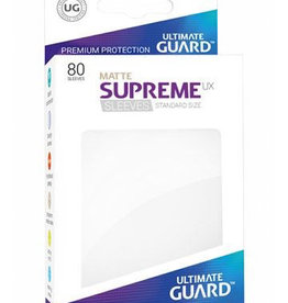 UG - Standard Sleeves Ultimate Guard Supreme UX Sleeves Standardgröße Matt Weiß (80)