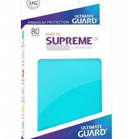 UG - Standard Sleeves Ultimate Guard Supreme UX Sleeves Standardgröße Matt Aquamarin (80)