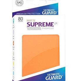 UG - Standard Sleeves Ultimate Guard Supreme UX Sleeves Standardgröße Matt Orange (80)