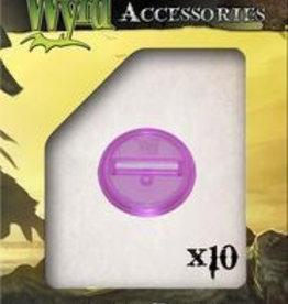 WYR - Malifaux Zubehör Purple Translucent Bases 30mm (10)