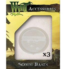 WYR - Malifaux Zubehör Clear Translucent Bases 50mm (3)