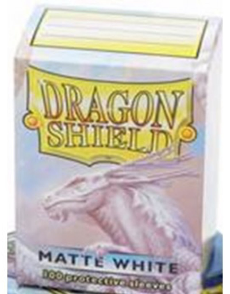 DS - Standard Sleeves Dragon Shield Standard Sleeves - Matte White (100 Sleeves)