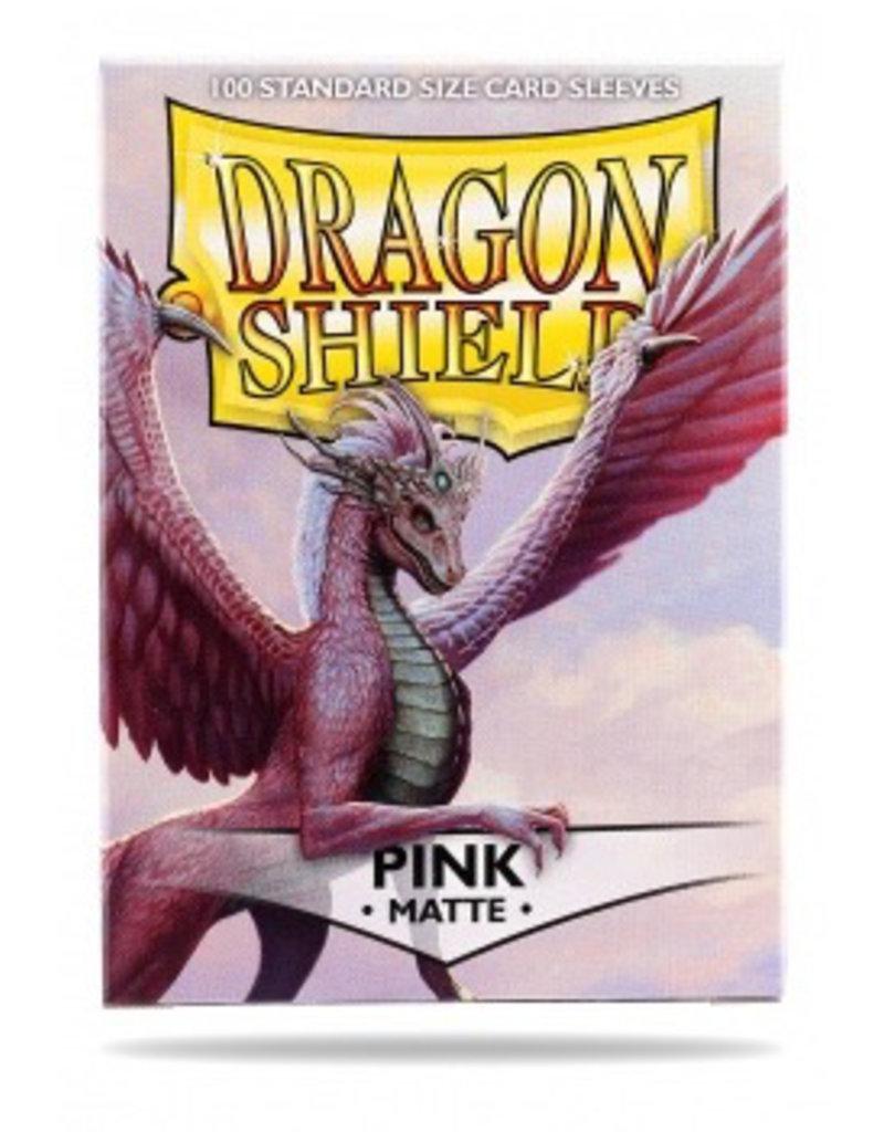 DS - Standard Sleeves Dragon Shield Standard Sleeves - Matte Pink (100 Sleeves)
