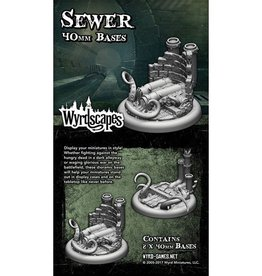 WYR - Malifaux Zubehör Sewer 40MM - 2 x Wyrdscapes Scenic Bases