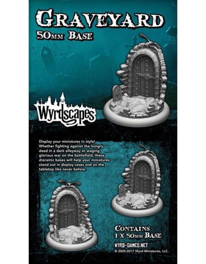 WYR - Malifaux Zubehör Graveyard 50MM - 1 x Wyrdscapes Scenic Bases