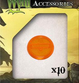 WYR - Malifaux Zubehör Orange Translucent Bases 30mm (10)