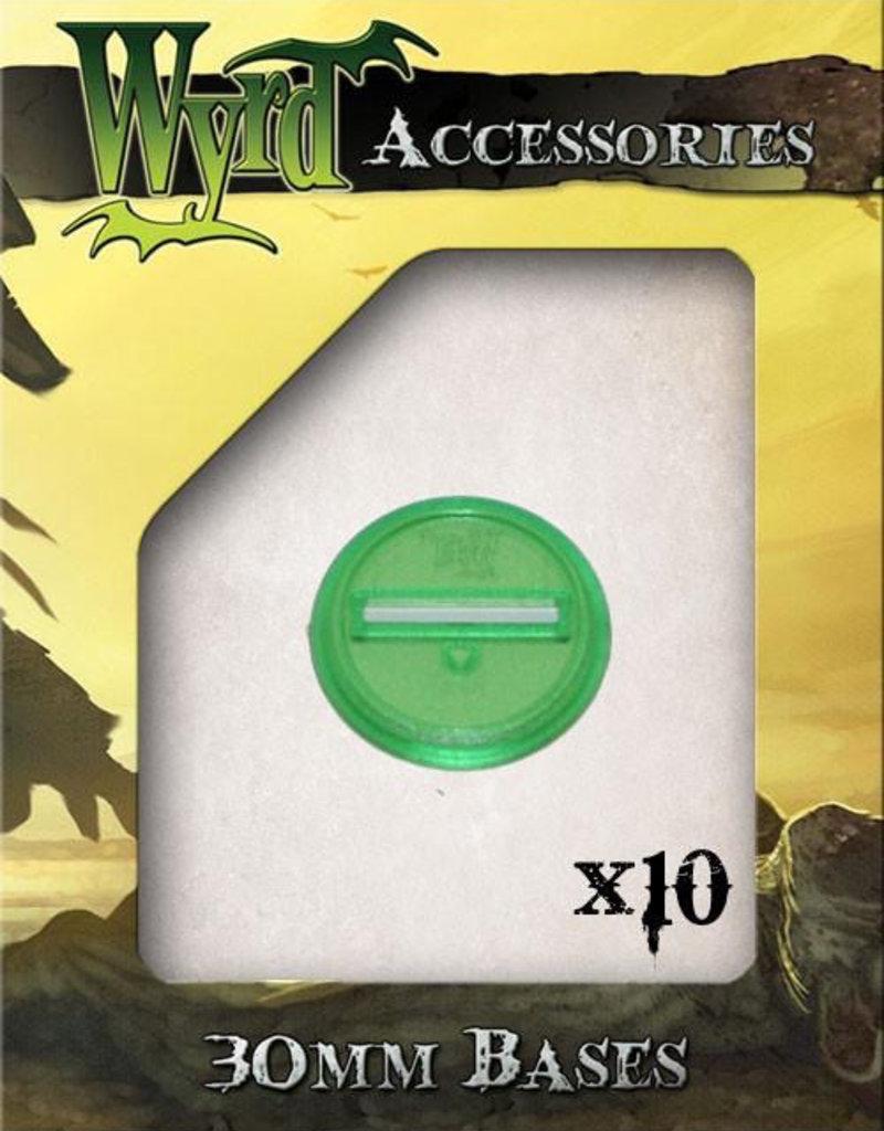 WYR - Malifaux Zubehör Green Translucent Bases 30mm (10)