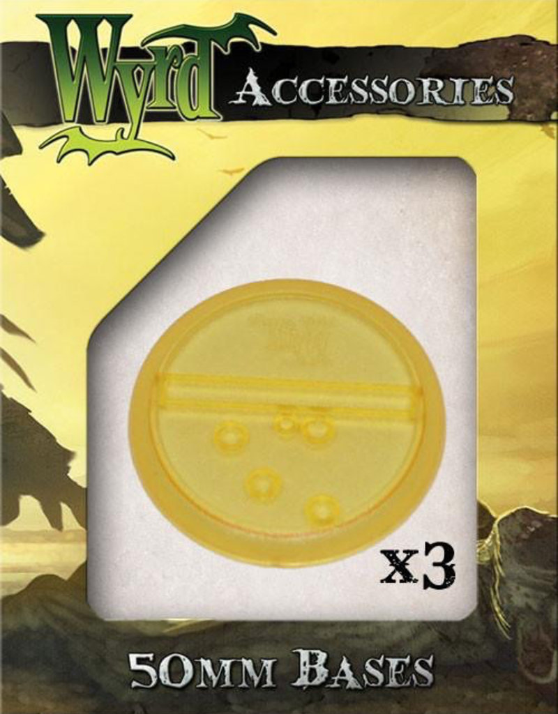 WYR - Malifaux Zubehör Gold Translucent Bases 50mm (3)