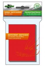 BF - Zubehör Blackfire Sleeves - Standard Double-Matte Red (50 Sleeves)
