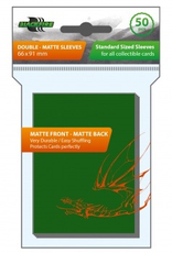 BF - Zubehör Blackfire Sleeves - Standard Double-Matte Green (50 Sleeves)