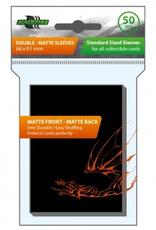 BF - Zubehör Blackfire Sleeves - Standard Double-Matte Black (50 Sleeves)